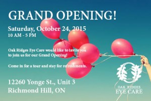 Oak Ridges Eye Care - Grand Opening